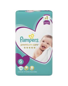 Pampers Pañal Premium Care G x 72 Unidades