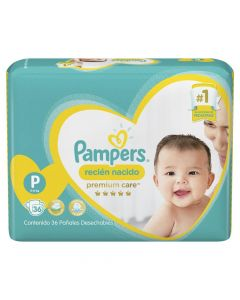 Pampers Pañal Premium Care P x 36 Unidades